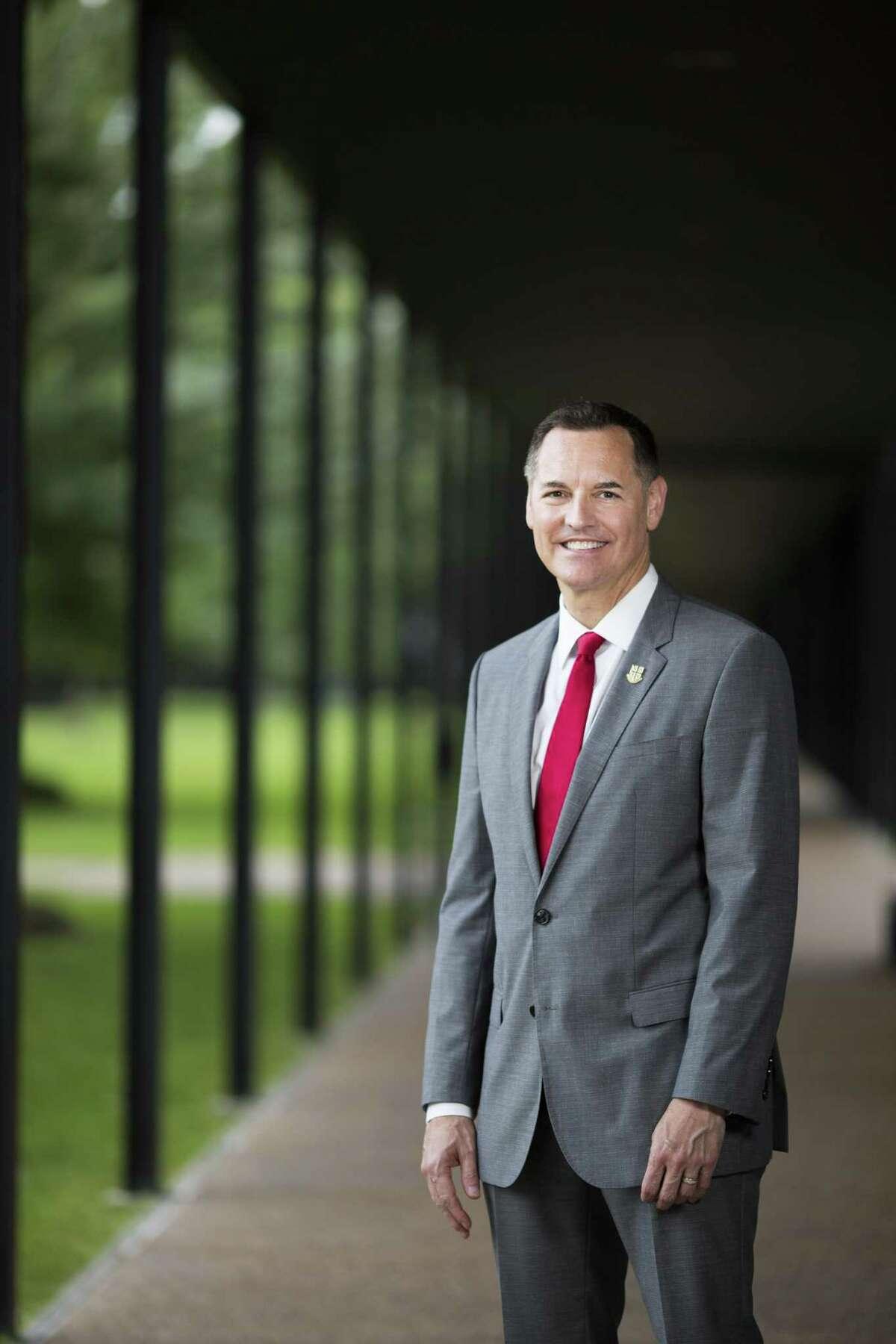 University of St. Thomas President Richard Ludwick at the University of St. Thomas Montrose campus on Wednesday, May 1, 2019, in Houston.