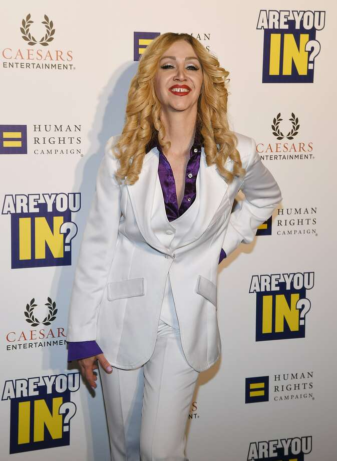"LAS VEGAS, NEVADA - MAY 11:  Madonna impersonator Coty Alexander from the tribute show ""Blond Invasion"" attends the Human Rights Campaign's (HRC) 14th annual Las Vegas Gala featuring a keynote address by South Bend, Indiana Mayor Pete Buttigieg at Caesars Palace on May 11, 2019 in Las Vegas, Nevada. Buttigieg is the first openly gay candidate to run for the Democratic presidential nomination. The HRC is the largest LGBTQ advocacy group in the United States.  (Photo by Ethan Miller/Getty Images) Photo: Ethan Miller, Getty Images"