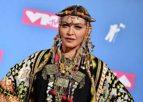 Madonna in the press room at the 2018 MTV Video Music Awards at Radio City Music Hall on August 20, 2018.