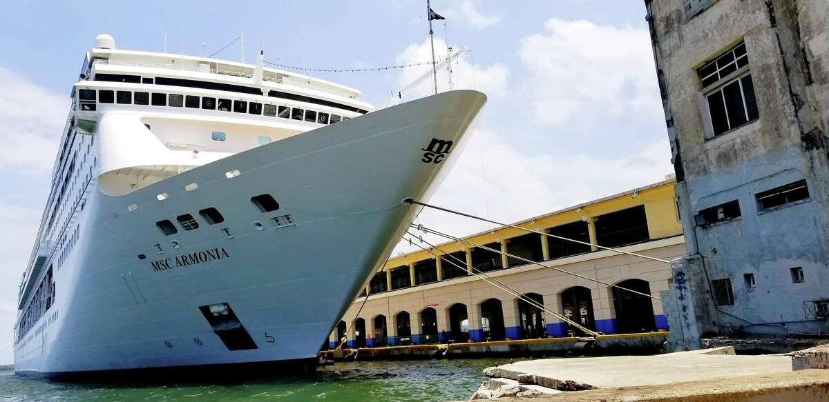 A cruise ship docked near the Sierra Maestra Terminal in Old Havana in May 2019.