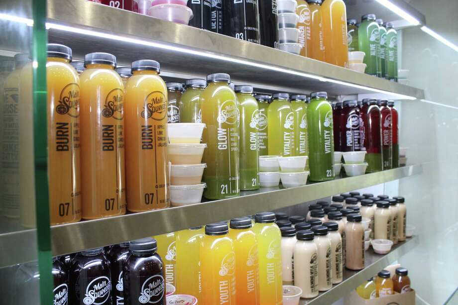 Main Squeeze Juice Company opened their fourth location in the Houston metro area in The Woodlands at 1900 Lake Woodlands Drive. Photo: Jane Stueckemann / The Villager