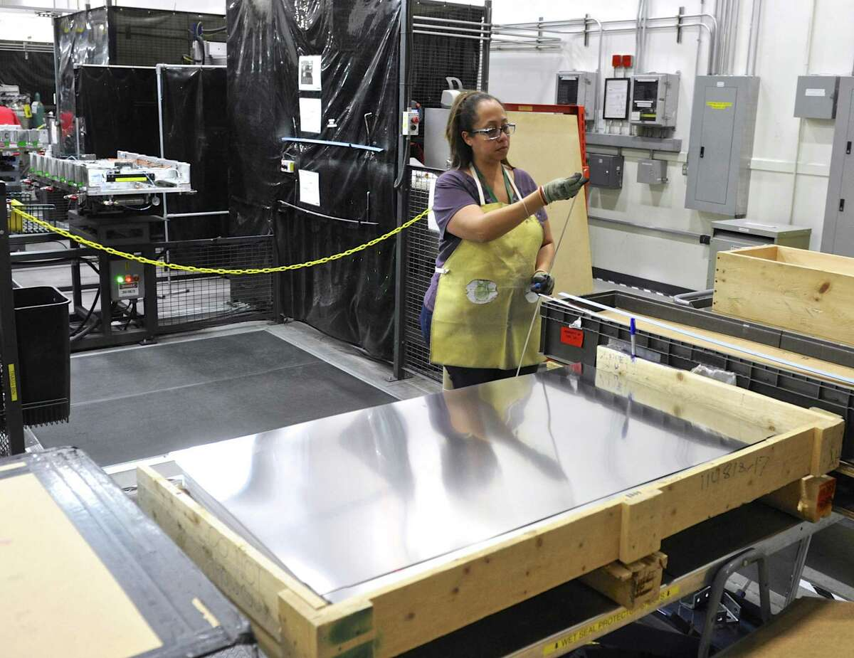 Students would be encouraged to take apprenticeships in manufacturing under a law approved in the House and Senate and awaits Gov. Ned Lamont's signature. This is a file photo from 2017 at the FuelCell Energy manufacturing plant in Torrington.