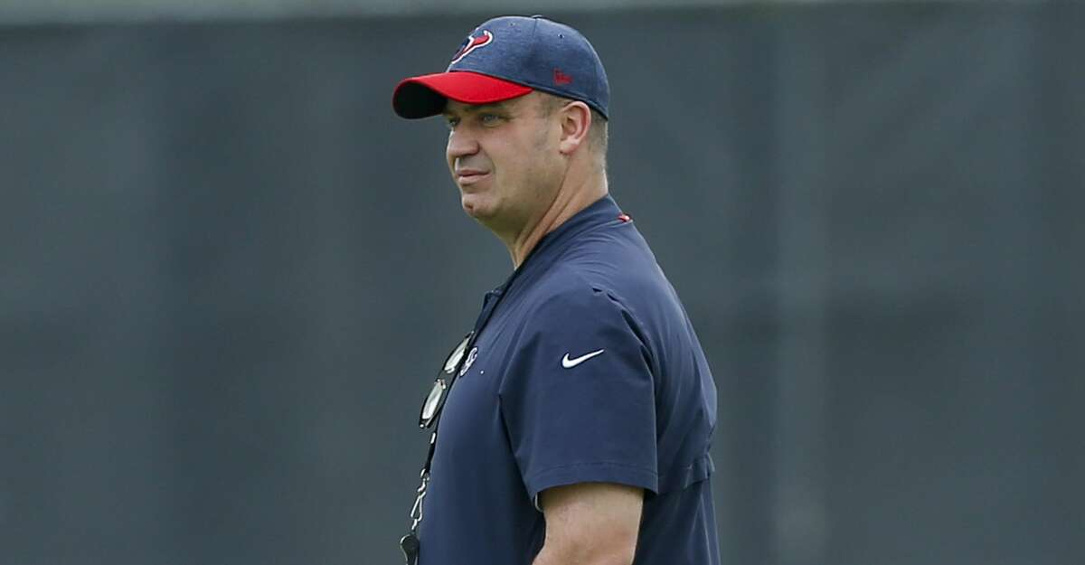 HOUSTON, TX - MAY 21: Head coach Bill O'Brien watches practice during Houston Texans OTA's at the Houston Methodist Training Center on May 21, 2019 in Houston, Texas.(Photo by Bob Levey/Contributor)