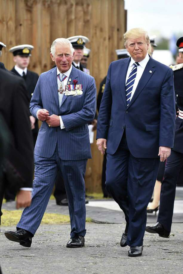 On his visit to the United Kingdom, President Donald Trump and Prince Charles discussed climate change. One wonders how much of that time Charles must have spent gritting his teeth. Photo: Jeff J Mitchell /Associated Press / Getty Pool