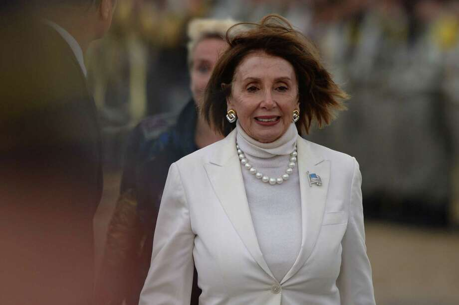 House Speaker Nancy Pelosi, here at an international ceremony on Juno Beach in Courseulles-sur-Mer, Normandy to commemorate D-Day, was recently the target of a video doctored to make it appear she was drunk. Daily Beast was wrong to out the source of the video, a man in the Bronx. Photo: GUILLAUME SOUVANT /AFP /Getty Images / AFP or licensors