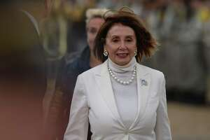 House Speaker Nancy Pelosi, here at an international ceremony on Juno Beach in Courseulles-sur-Mer, Normandy to commemorate D-Day, was recently the target of a video doctored to make it appear she was drunk. Daily Beast was wrong to out the source of the video, a man in the Bronx.