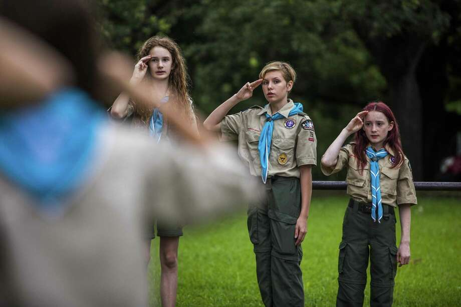 Scouts in Austin this week celebrate the 100th Anniversary of Congress passing the 19th Amendment. Texas quickly ratified the amendment, but still kept women of color from the polls. Photo: Drew Anthony Smith /Associated Press / The Boy Scouts of America