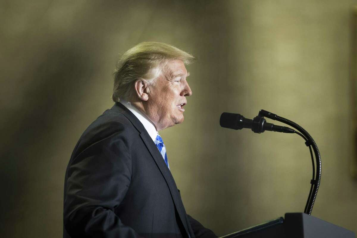 President Donald Trump discusses pharmaceuticals pricing policy at the Department of Health and Human Services Oct. 25. , 2018. His administration has made some good moves on limiting drug prices, but the Rebate Rule is not among them.