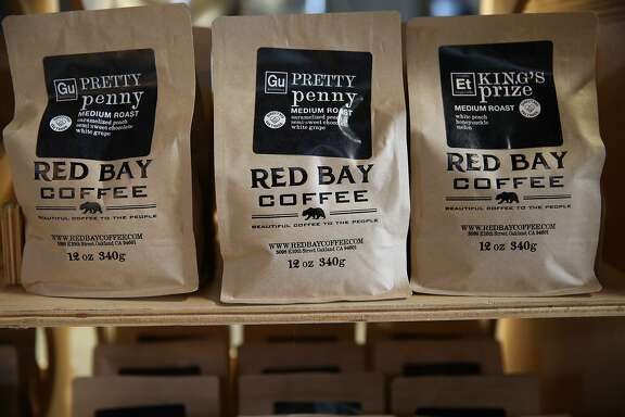A variety of coffee are displayed at Red Bay Coffee, located at 3098 East 10th Street, in Oakland, Calif., on Friday, June 7, 2019. Red Bay Coffee is a small but fast growing coffee roasting company. It had no retirement plan for employees until it enrolled this year in a pilot program for CalSavers, the state-run retirement plan for employers that don't offer their own.