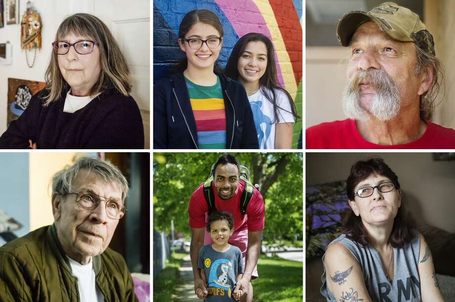 Life in Midland County means something different to each of us. For some, it's a great place to settle down and start a family. For others, it's the only home they have ever known. For others still, it's a thriving business community. The eight residents whose portraits follow have had a wide range of experiences in their time here. Between military service, raising children, making art and making friends, their lives give us a unique picture of this place we call home. Click through the slideshow to read more about their lives and to learn what this community means to them. (Katy Kildee/kkildee@mdn.net) Photo: (Katy Kildee/kkildee@mdn.net)