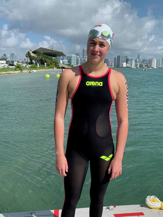 Caroline Pennington, an Old Greenwich resident and Greenwich Academy student, placed ninth at the 2019 USA Swimming Women's 5K Junior National Championships, recently. Photo: Contributed Photo / Contributed Photo / Greenwich Time Contributed