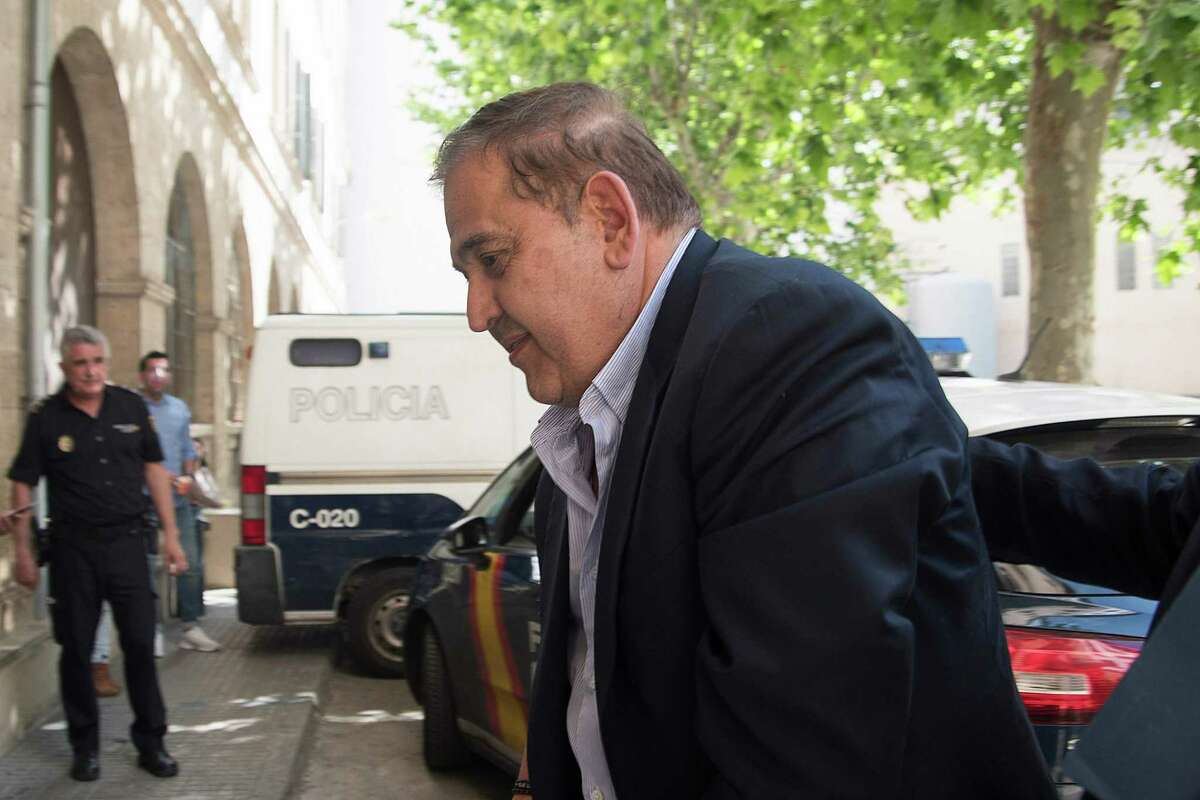 Alonso Ancira, head of Altos Hornos de Mexico, arrives to court in Palma de Mallorca on May 29, 2019 after being arrested on the Spanish island. - The Mexican executive accused of orchestrating the sale of a defunct business to state oil company Pemex for nearly half a billion dollars was arrested on May 28 on the Spanish island of Mallorca, his firm said. (Photo by STR / AFP)STR/AFP/Getty Images
