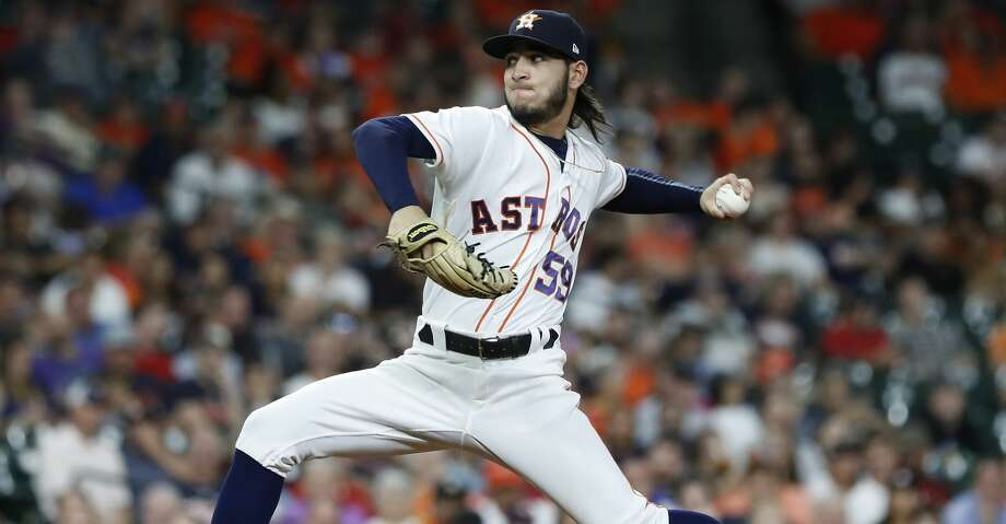 PHOTOS: Astros game-by-game Houston Astros relief pitcher Cionel Perez (59) pirches during the seventh inning of an MLB baseball game at Minute Maid Park, Wednesday, September 19, 2018, in Houston. Browse through the photos to see how the Astros have fared in each game this season. Photo: Karen Warren/Staff Photographer