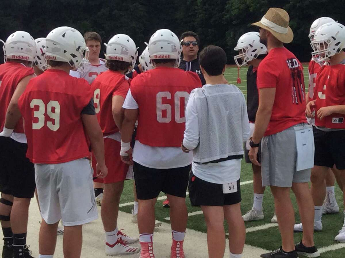 The Greenwich High School football team held spring practices for two weeks and will play its annual Red and White Game at Cardinal Stadium on Saturday at 5 p.m.