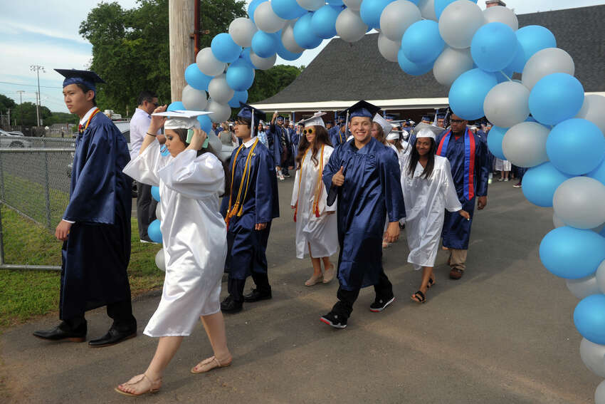 Ansonia High School graduation for the Class of 2019, in Ansonia, Conn. June 7, 2019.