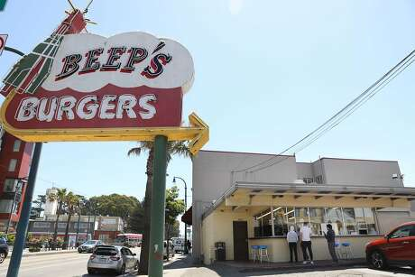 Beep's Burgers is seen on Tuesday, June 4, 2019  in San Francisco, Calif.