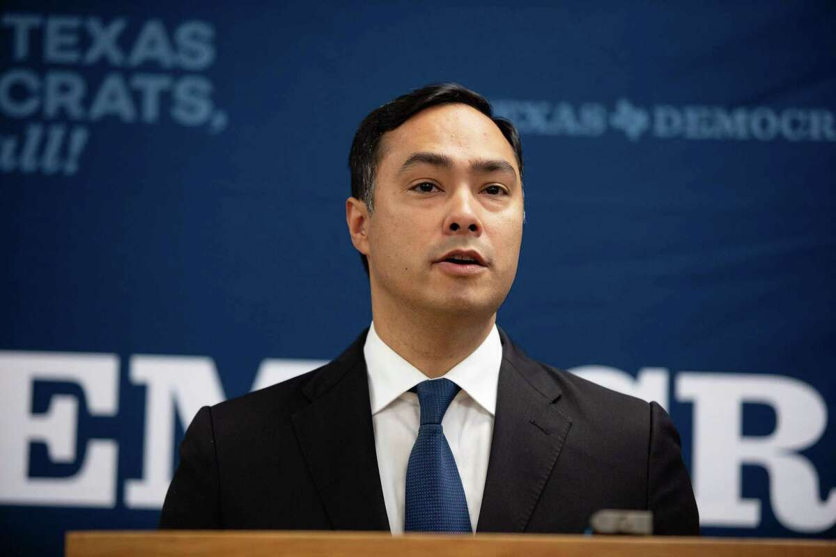 Rep. Joaquin Castro, D-San Antonio, took photos of the migrants with their permission during a tour in a Border Patrol facility on July 1, 2019.