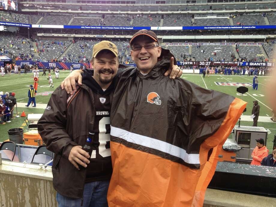 1. I'm a long-suffering fan of the Cleveland Browns, attending at least one game almost every year. Photo: Courtesy Of Gary Dake