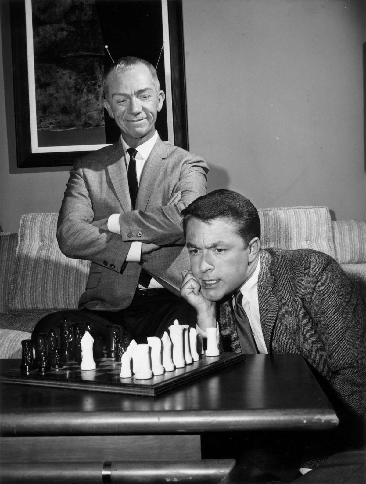 """This 1963 photo shows Ray Walston and Bill Bixby, stars of """"My Favorite Martian"""" television show."""