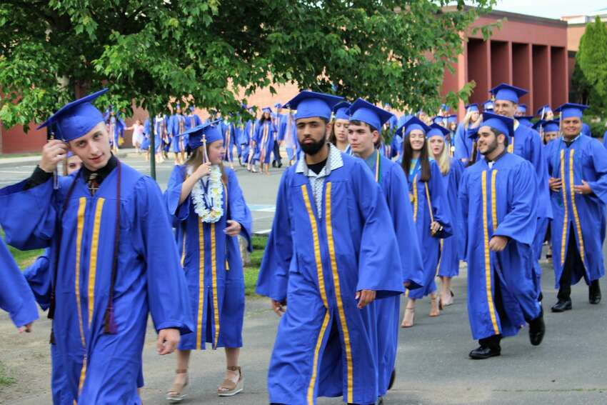 Seymour High School's 132nd annual Graduation, Class of 2019, held at DeBarber Field Friday night