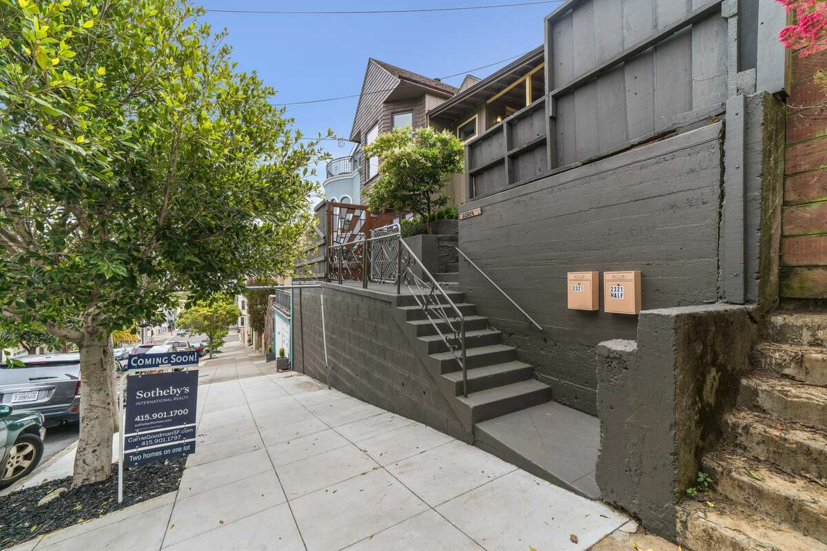 Two separate remodeled homes on this single lot one of SF's most beautiful and centrally located neighborhoods, make for a unique property, asking $2.6M