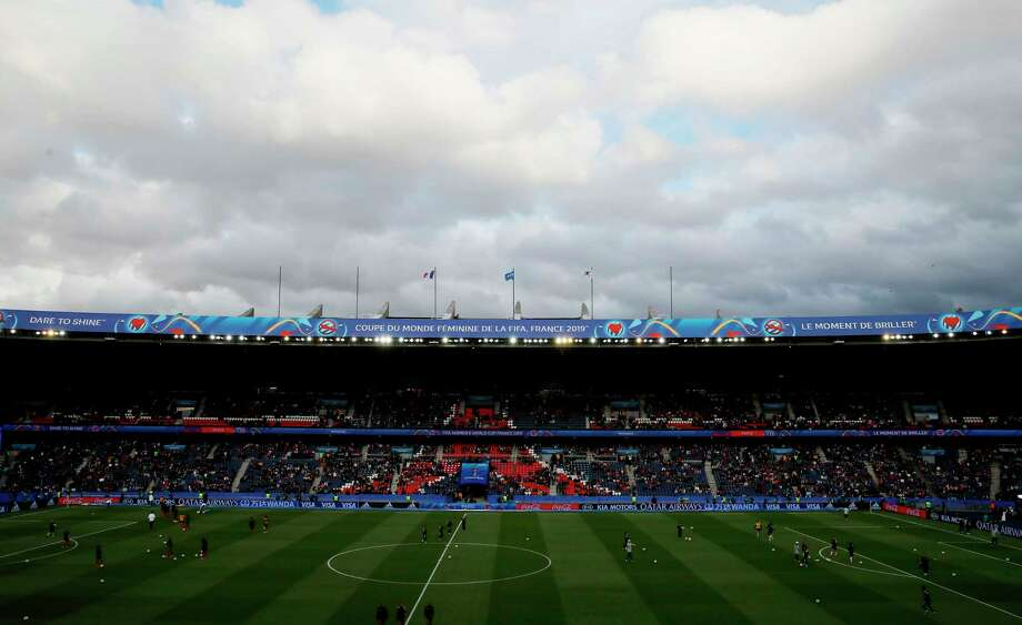 An overview of the stadium ahead of the Women's World Cup Group A soccer match between France and South Korea, at the Parc des Princes in Paris, Friday, June 7, 2019. Photo: Francois Mori, AP / Copyright 2019 The Associated Press. All rights reserved