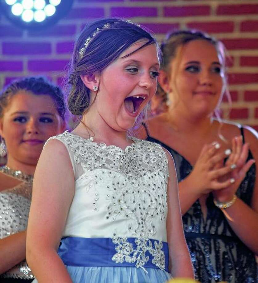 Gabriella Harris, 7, was crowned Lil Miss Virginia Bar-B-Que Friday night. Photo: Samantha McDaniel-Ogletree | Journal-Courier