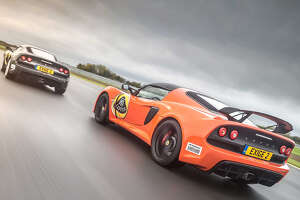 The Lotus Exige 360 Exige can reach about 110 mph on MSR Houston's longest straight.