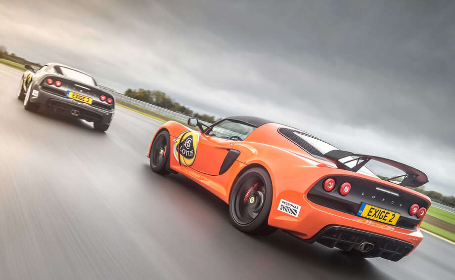 The Lotus Exige 360 Exige can reach about 110 mph on MSR Houston's longest straight. Photo: MSR Houston