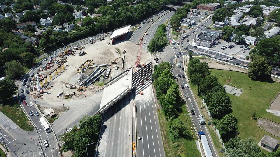 Construction on I-95 in Stamford on Saturday, June 8, 2019. Photo: Contributed By Hugo Portu