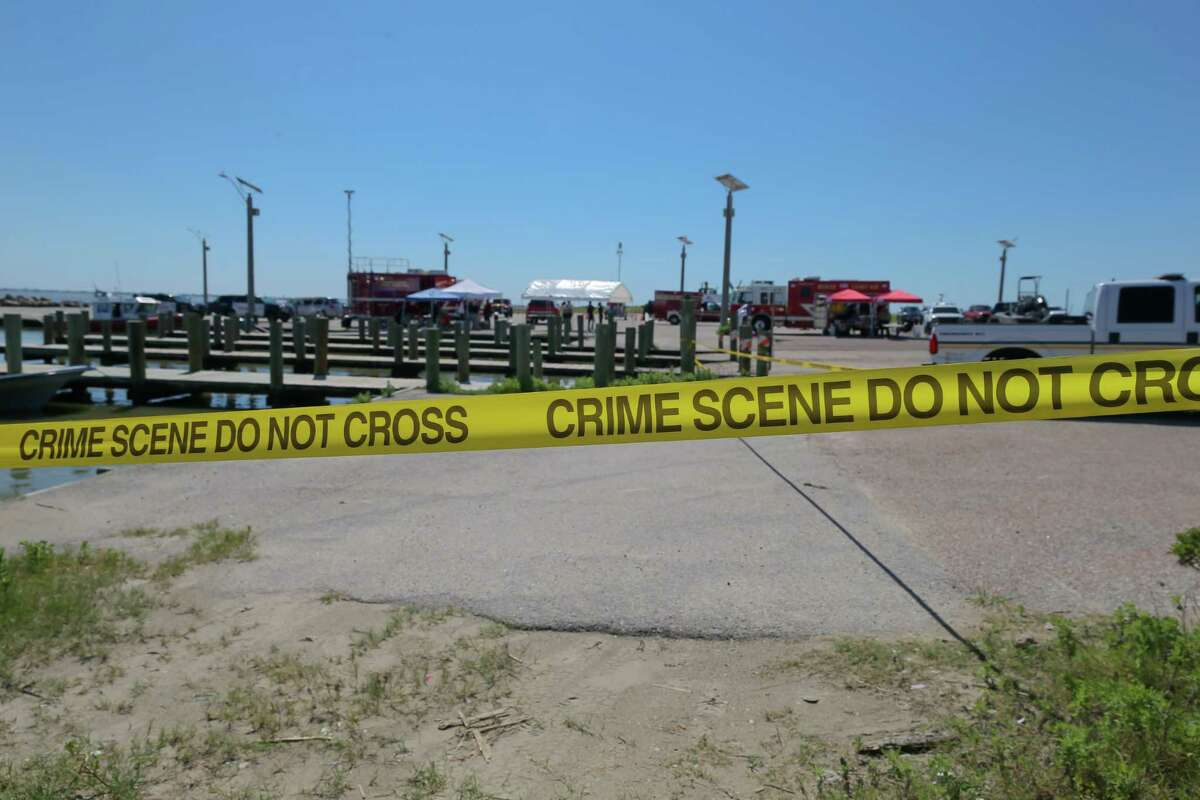 June 8, 2019: Rescue efforts continue in the investigation of the drowning of Kemah Chief of Police Chris Reed, at the Texas City Dike.