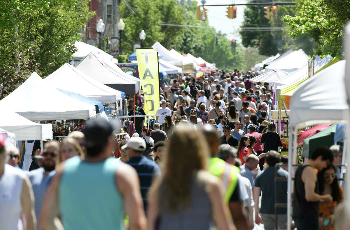 Crowds flock to Lark Street during Art on Lark on Saturday, June 8, 2019 in Albany, NY. (Phoebe Sheehan/Times Union)