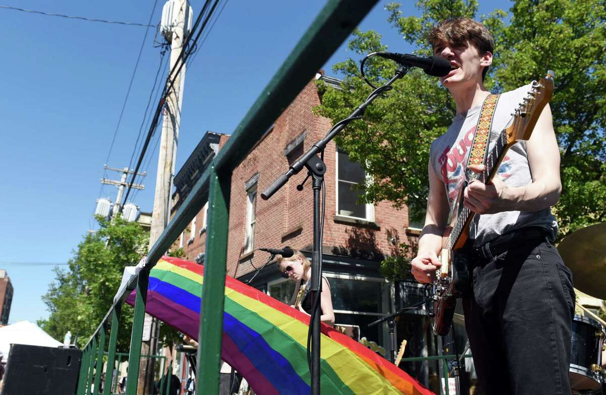 Laveda performs during Art on Lark on Saturday, June 8, 2019 in Albany, NY. (Phoebe Sheehan/Times Union)