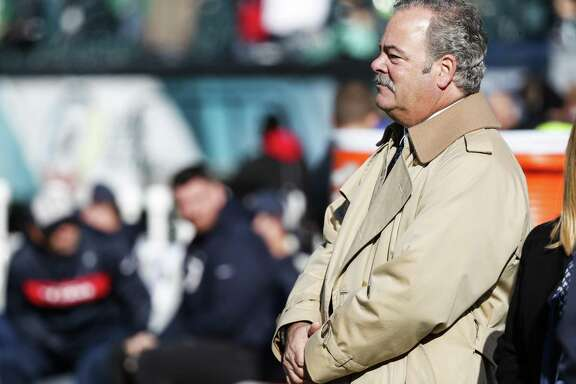 Houston Texans chairman Cal McNair watches warm ups before an NFL football game against the Philadelphia Eagles at Lincoln Financial Field on Sunday, Dec. 23, 2018, in Philadelphia.