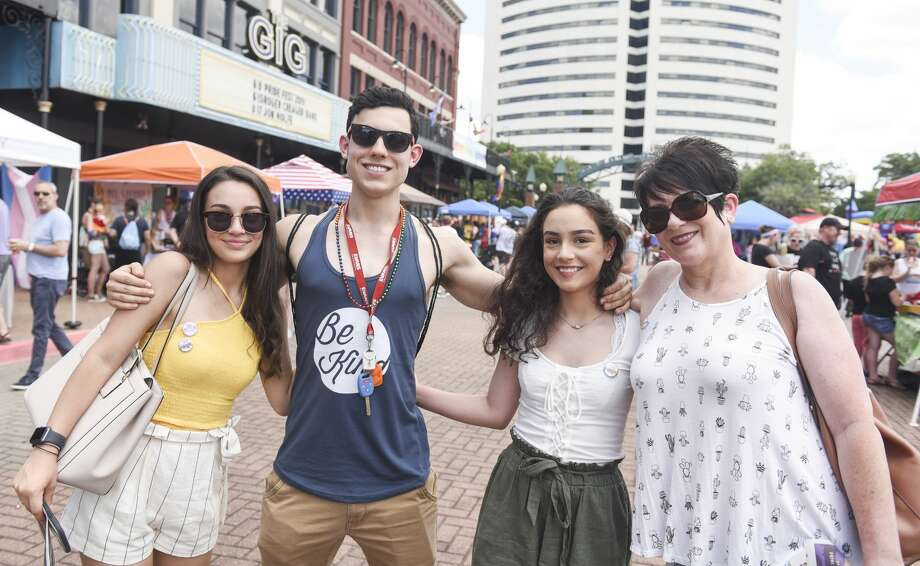 People enjoy Beaumont's second annual pride festival at Crockett Street Saturday afternoon. Photo taken on Saturday, 06/08/19. Ryan Welch/The Enterprise Photo: Ryan Welch/The Enterprise