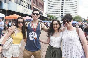 People enjoy Beaumont's second annual pride festival at Crockett Street Saturday afternoon. Photo taken on Saturday, 06/08/19. Ryan Welch/The Enterprise