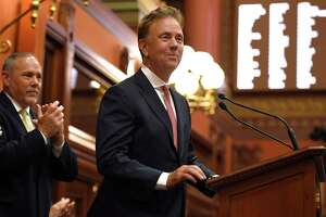 Gov. Ned Lamont in a 2019 file photo in the State Capitol.