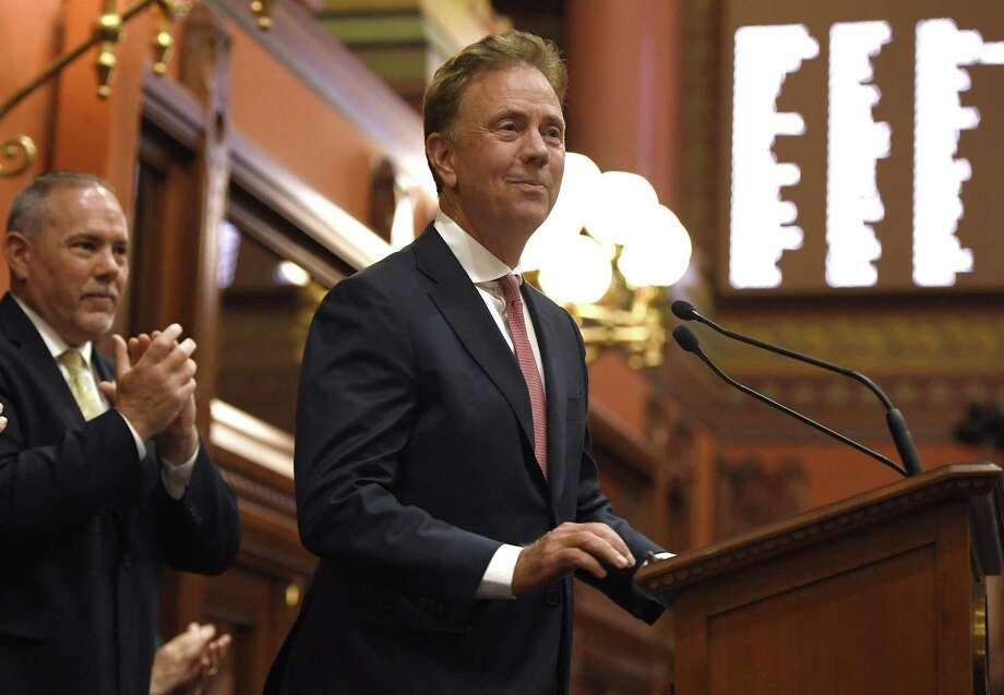Connecticut Gov. Ned Lamont addresses the House and the Senate at the Capitol Thursday. Photo: Jessica Hill / Associated Press / Copyright 2019 The Associated Press. All rights reserved