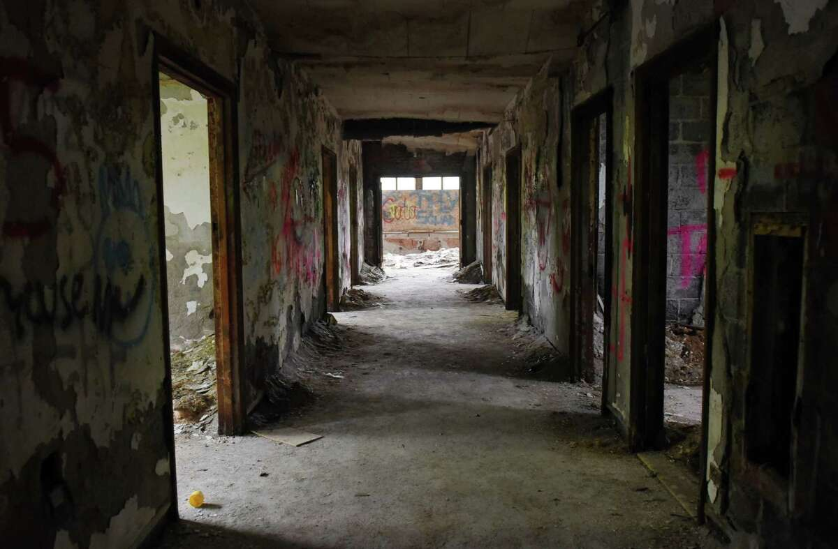 A hallway in the Homestead Asylum on Thursday, May 23, 2019 in Middle Grove, NY. (Phoebe Sheehan/Times Union)