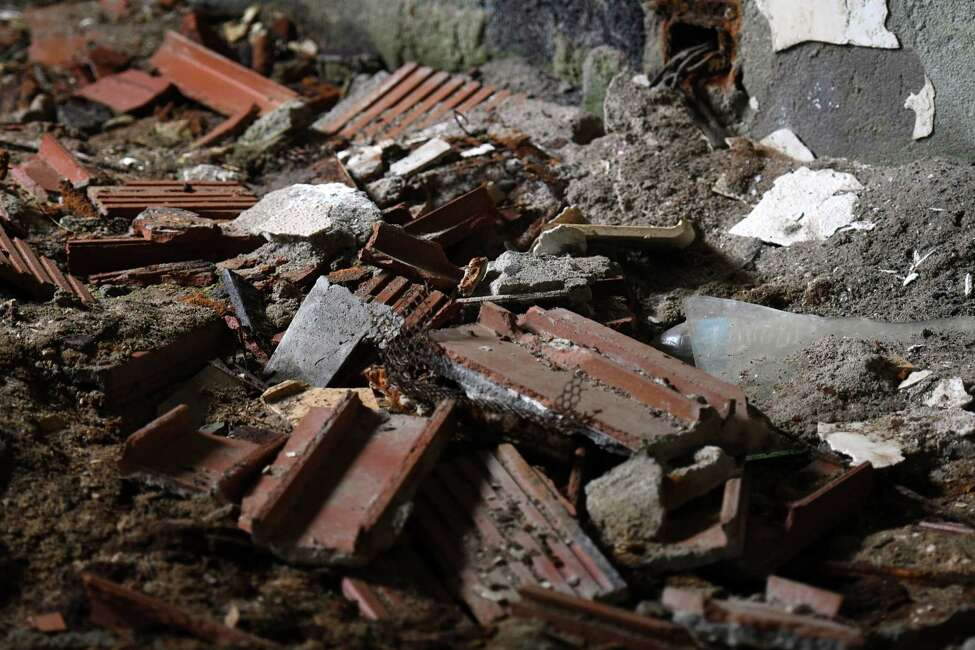 A pile of rubble inside of the Homestead Asylum on Thursday, May 23, 2019 in Middle Grove, NY. (Phoebe Sheehan/Times Union)