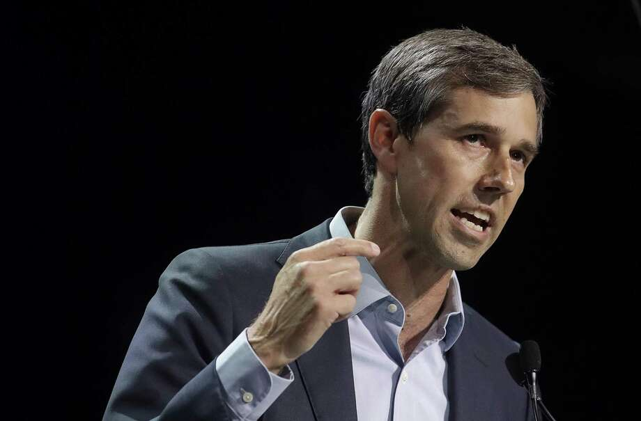 In this June 1, 2019, photo, Democratic presidential candidate and former Texas Congressman Beto O'Rourke speaks during the 2019 California Democratic Party State Organizing Convention in San Francisco. O'Rourke has unveiled a voting rights proposal he says can increase voter registration by 50 million and raise nationwide voter turnout to 65% _ seeking to ensure that 35 million new voters cast ballots in the 2024 presidential race. (AP Photo/Jeff Chiu) Photo: Jeff Chiu, STF / Associated Press / Copyright 2019 The Associated Press. All rights reserved