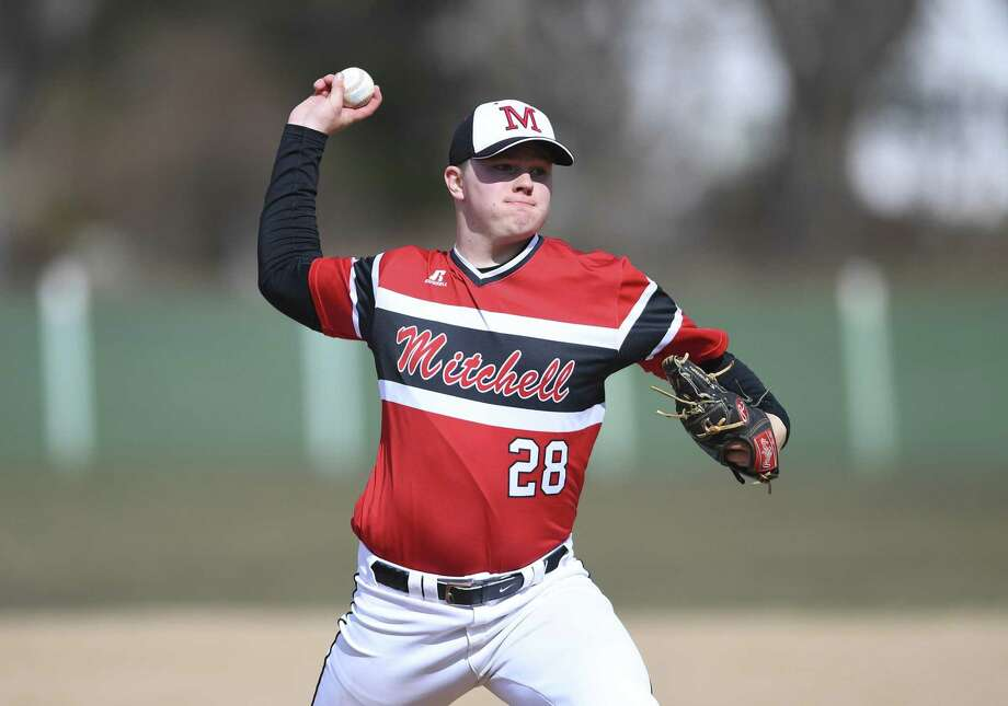 Mitchell College pitcher Roland Thivierge. Photo: Mitchell College