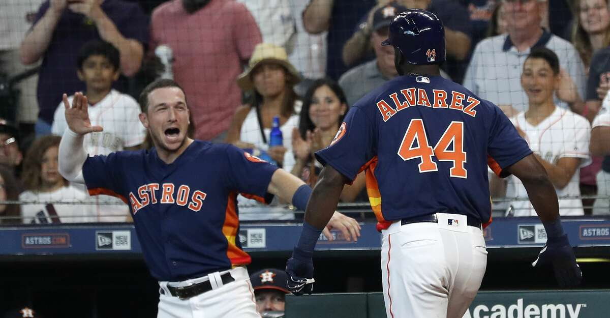 Homered to avoid a fine Alvarez told LaVidaBaseball.com that his new Astros teammates had joked that they would fine him if he didn't homer in his big-league debut.