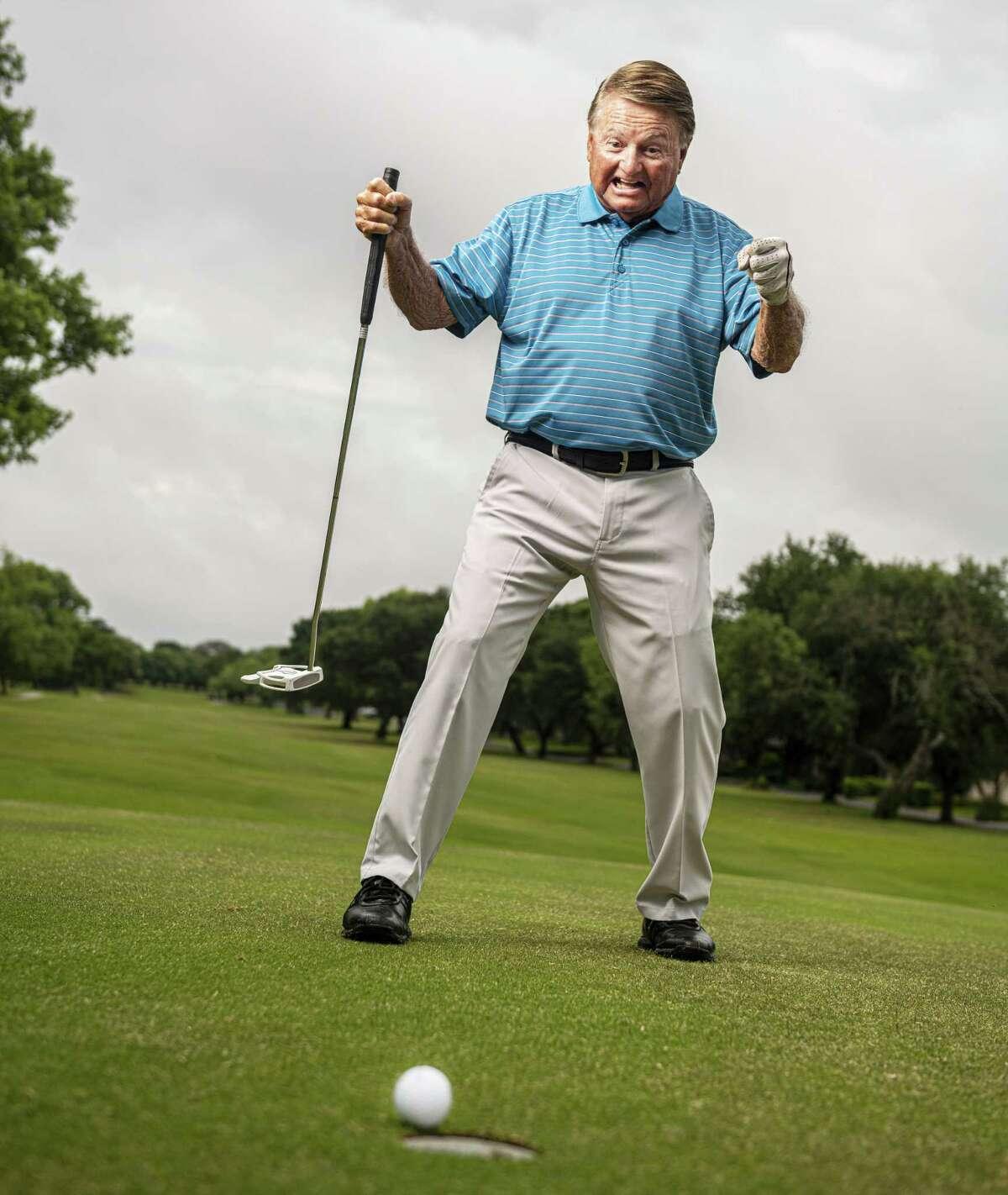 Windcrest area resident and avid golfer, Dan Ellis, 17th holes in one.