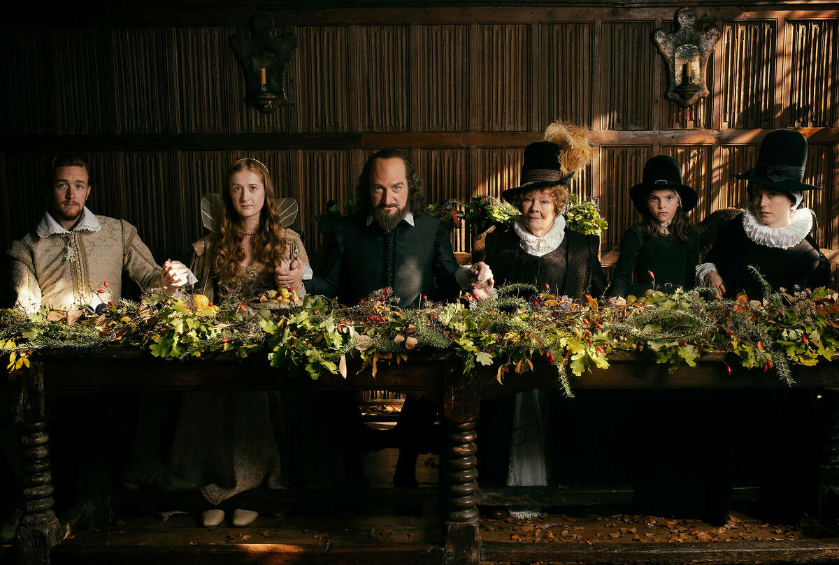 From left: Jack Colgrave Hirst, Kathryn Wilder, Kenneth Branagh, Judi Dench, Clara Duczmal and Lydia Wilson in