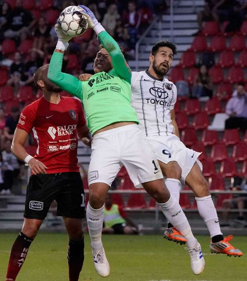 Carlos Herrera as started all four games this year for the Heat — two U.S. Open Cup matches and two National Premier Soccer League contests. Photo: Darren Abate / San Antonio Express-News File