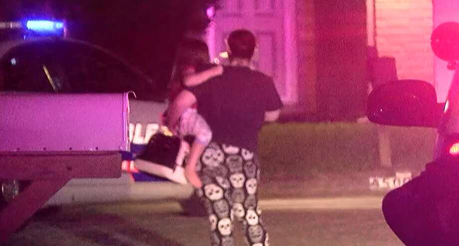 Deputies reunite a mother with her 4-year-old child Sunday night, after a man stole her car with the child inside in north Harris County, according to authorities. Deputies couldn't locate the suspect where he left the car. Photo: Montgomery County Police Reporter