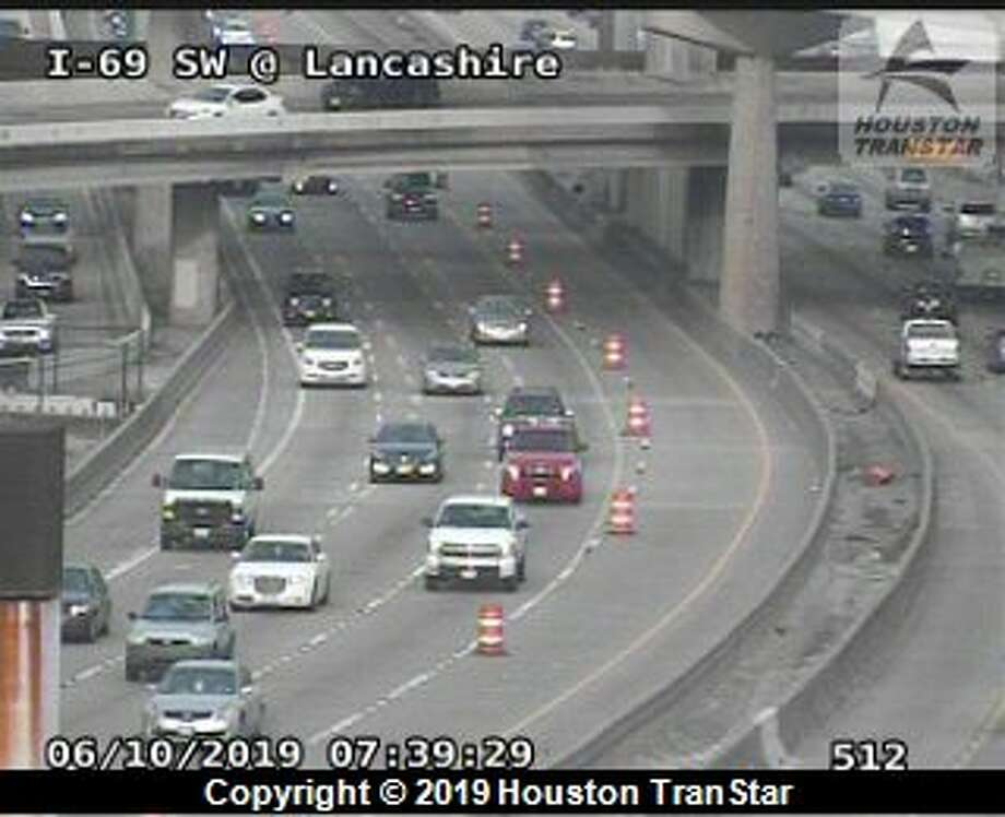 One inside lane of Interstate 69 is closed at West Loop 610 starting Monday, June 10, 2019. The closure is indefinite.
