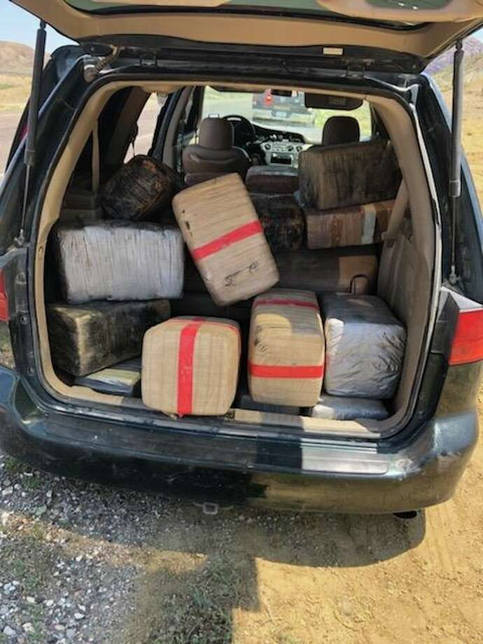 Brewster County deputies on Saturday discovered several hundred pounds of cannabis in an abandoned van. Photo: Brewster County Sheriff's Office