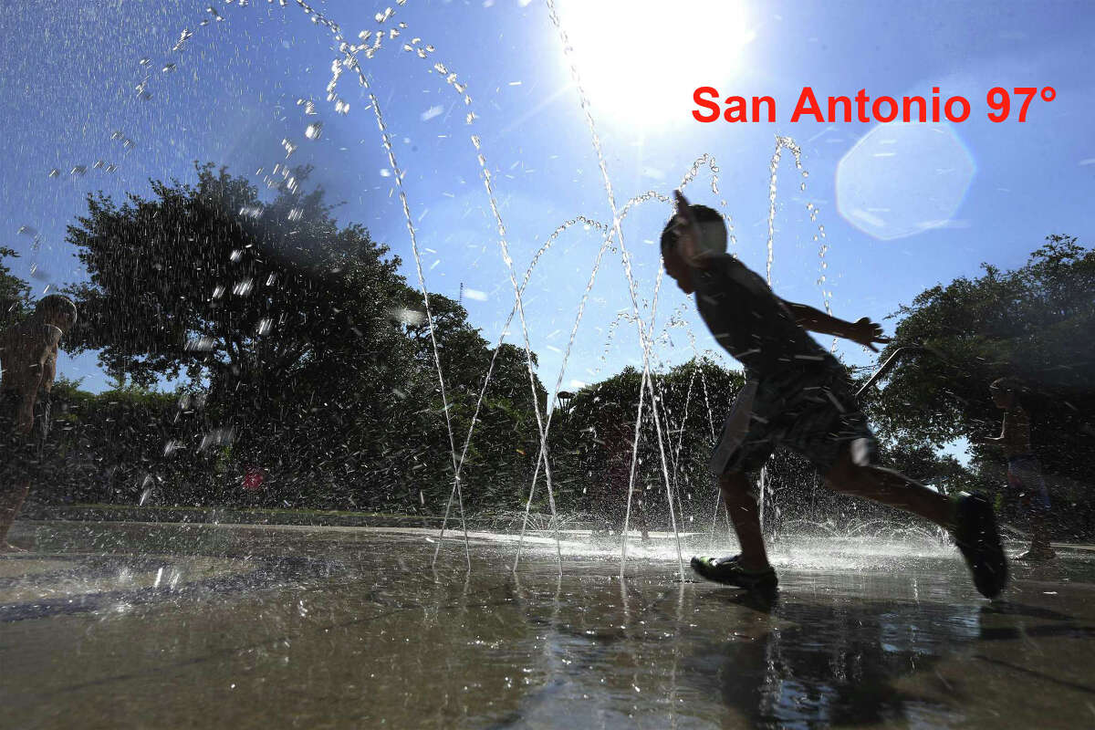 According to the National Weather Service San Antonio saw a high of 97° over the July 9-10 weekend.